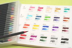 Akashiya Sai Watercolors http://www.jetpens.com/Akashiya-Sai-Sai-ThinLine-Watercolor-Brush-Pens-Accessories/ct/564