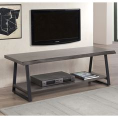 Live Edge 59-inch Entertainment Center - Overstock™ Shopping - Great Deals on Entertainment Centers