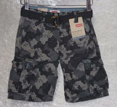 Levi's Cargo shorts relaxed fit belted cotton boys kids adjustable size 7 NEW  19.99 free us shipping http://www.ebay.com/itm/-/231873687373?