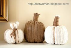 How to make Darling Sweater Pumpkins       Here's one to pin!           I've been spending some time on Pinterest, it's dangerous. I usual...