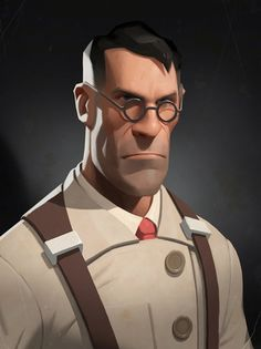 Team Fortress 2 : Medic // Illustration by Moby Francke Character Design Cartoon, Character Design Animation, Character Design References, Character Design Inspiration, Character Sketches, 3d Animation, Character Modeling, Game Character, Character Concept Art