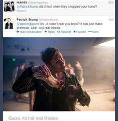 """""""make pretends"""" """"not real lifesies"""" Patrick you're 30 stop being so freaking cute"""