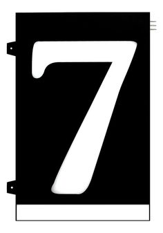 Homidea Backlit LED House Number 7 Led House Numbers, Turn Light, Number 7, Overhead Lighting, Emergency Response, House Entrance, Day For Night, Home Projects, Diy Home Decor