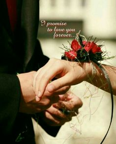 """It's nice to know when a couple tell to each other: """"I promise to love you forever, no one else but only you"""". It reminds me of my beloved husband...."""