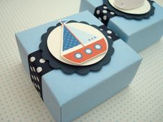 Nautical Themed Party Favor Boxes, Set of Ten. $25.00, via Etsy.
