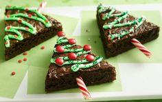 Simple Christmas Tree Brownies cute!