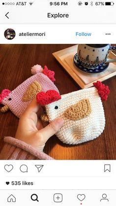 Crochet Wallet, Crochet Coin Purse, Crochet Phone Cases, Crochet Pouch, Crochet Purses, Crochet Woman, Love Crochet, Crochet Toys Patterns, Crochet Designs