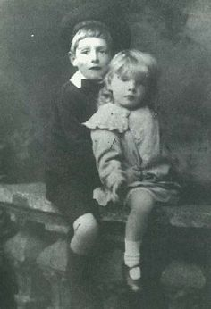 Samuel Beckett (born 13 April, 1906; died 22 December, 1989) in an early photograph, with his elder brother, Frank (on the left)
