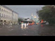 New #Video - #Russland #Moskau - Stürmischer Wind und sehr starker Regen #footage 22.07.2016