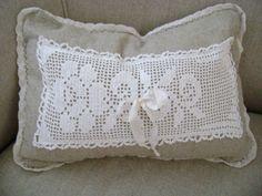 Linen and Lace 'Linen N' Lace Roses' Boudoir Pillow by TWFaith❤❤❤