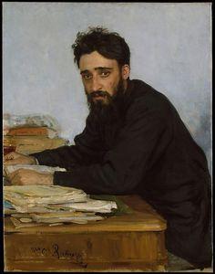 Ilia Efimovich Repin  (Russian, 1844–1930). Vsevolod Mikhailovich Garshin (1855–1888). The Metropolitan Museum of Art, New York. Gift of Humanities Fund Inc., 1972 (1972.145.2)  #mustache #movember