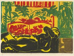 James Lesesne Wells (artist) American, 1902 - 1993 African Nude, 1980 color linocut on Japan paper image: x cm x 17 in.) sheet: 43 x cm x 22 in.) Gift of Jacob Kainen Famous African American Artists, African American History, Wells, Harlem Renaissance Artists, National Gallery Of Art, Black Artists, Art Projects, Art Photography, Prints