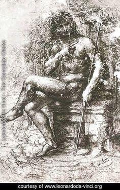 Leonardo Da Vinci - Design for St John in the Wilderness 1508-15