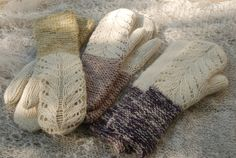 """Lacemittens """"Hilda"""" by Kristi Everst My name is Kristi and i live in a small country with a rough climate –Estonia. I believe that the weather here is made for knitting and that there's nothing bet… Lace Knitting, Knitting Patterns Free, Free Pattern, Knit Crochet, Mittens Pattern, Knit Mittens, Knitted Gloves, Fingerless Gloves, Lace Patterns"""