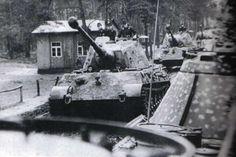 Tank photo. Kurt Knispel and his PzKpfw VI Ausf. B Tiger II