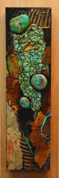 """Daily Painters Abstract Gallery: Mixed Media Abstract Painting, """"Arroyo 2"""" © Carol Nelson Fine Art"""
