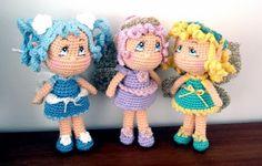 Fairy Dolls Amigurumi ~ Patrón Gratis en Español: http://susigurumi.blogspot.com.es/2013/12/patron-amigurumi-fairy-dolls.html