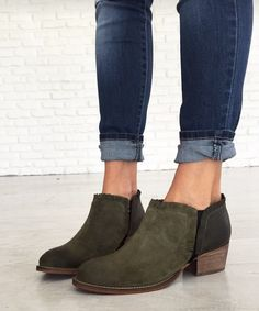 Mindy Maes market olive booties
