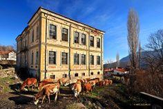 The beautiful old school of Akritas village, Florina, Macedonia, Greece. Image Copyright: Hercules Milas
