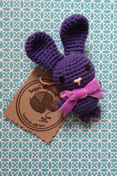 Handmade amigurumi brooch. A fun and cute crochet by Happielephant, $15.00