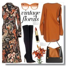 """""""Smell the Roses: Vintage Florals"""" by queenvirgo ❤ liked on Polyvore featuring STELLA McCARTNEY, MM6 Maison Margiela, Gianvito Rossi, Dolce&Gabbana, L'Oréal Paris and vintage"""