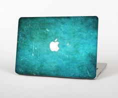 """The Grunge Green Textured Surface Skin Set for the Apple MacBook Pro 15"""" with Retina Display from Design Skinz"""