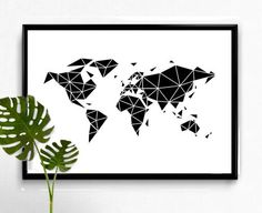 Geometric Poster, Geometric Wall Art, Corner Wall, Concept, Etsy Shop, Map, Unique Jewelry, Handmade Gifts, Prints