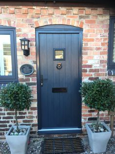 Composite door designer Nottingham – Windows Doors and Conservatories in Nottingham Cottage Front Doors, Cottage Door, House Front Door, House With Porch, Grey Composite Front Door, Grey Front Doors, Back Doors, Solidor Door, Building A Porch