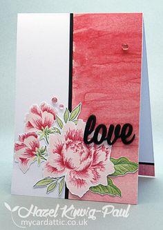 My Card Attic: Altenew's Peony Bouquet, Bits & Bobs Card