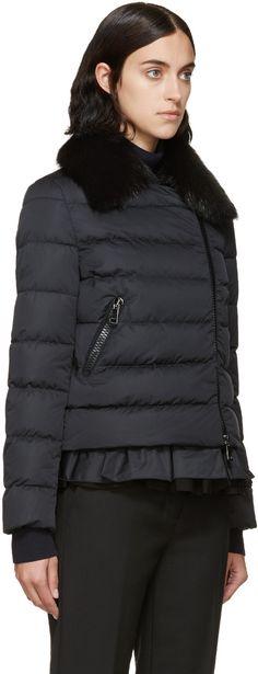 Moncler Black Chenonceau Down Jacket