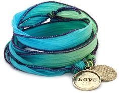 "Alisa Michelle ""Short and Sweet"" Hand Dyed Silk Sterling Silver Plated Love Charm Wrap Bracelet Alisa Michelle, http://www.amazon.com/dp/B008DU0QV2/ref=cm_sw_r_pi_dp_arZ1qb12E2Y0P"