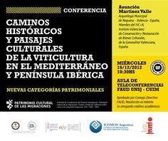 "Conferencia ""Caminos y paisajes de la viticultura"" http://www.unsj.edu.ar/vista_not.php?id_noticia=3078"