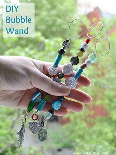 DIY Bubble Wand | Hello Little Home #craft #kids #bubbles