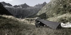 the motorcycle 'bivouac' tent embraces the adventurous spirit and thirst for the unknown.