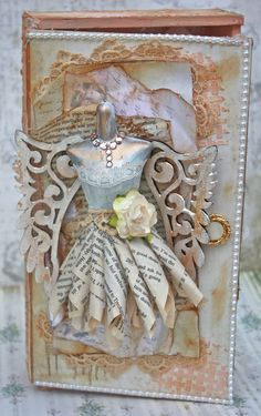 Other: Shabby Chic Altered Cigar Box and Dressform