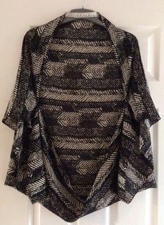 Monochrome Cocoon Kimono