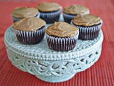 Chocolate Avocado Cupcakes with Butterscotch Frosting - Vegan, Gluten Free & NO refined sugar! www.flourchild.ca