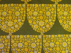 Scandinavian Fabric - x available from Rainbow Vintage Home online shop Pattern Paper, Fabric Patterns, Print Patterns, Floral Patterns, Vintage Textiles, Vintage Patterns, Stamp Drawing, Fabric Wallpaper, Wallpaper Patterns