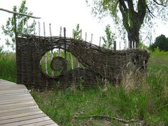 Woven Willow Fence   Flickr - Photo Sharing!