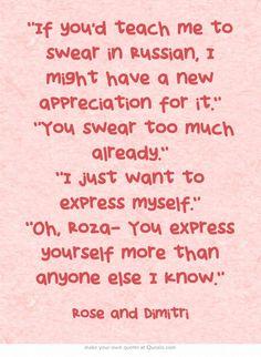 Vampire Academy Quotes   Dimtiri Belikov and Rose Hathaway