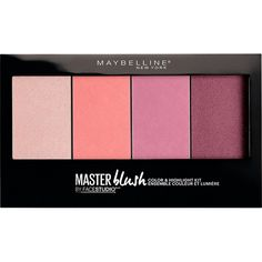 Maybelline Facestudio&Reg; Master Blush Colour And Highlighting... ($16) ❤ liked on Polyvore featuring beauty products, makeup, cheek makeup, blush, one colour, maybelline, highlight makeup, highlighting kit, maybelline makeup and maybelline cosmetics