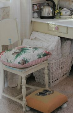 Cottage style guestroom chair ~ (our home)