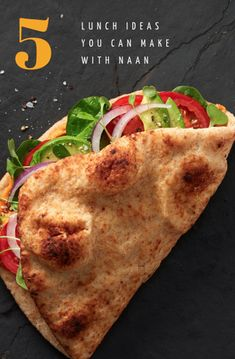 5 Lunch Ideas You Can Make With Naan – Stonefire Authentic Flatbreads Quick Lunch Recipes, Wrap Recipes, Healthy Eating Recipes, Dinner Recipes, Quesadillas, Burritos, Easy Cooking, Cooking Recipes, Veggie Meal Prep