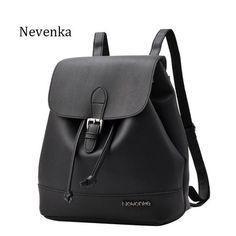 Nevenka Fashion Women Backpack Casual Brand Design Backpack PU Leather Backpacks Style Shoulder Bag CrossbodyBag Softback Sac
