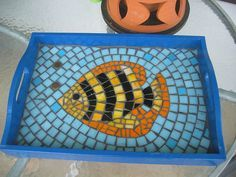 mosaic tray with fish design - Mosaic Design Ideas