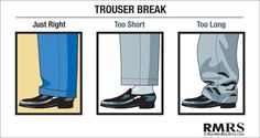 The trouser break affects the length of your trousers and your overall appearance.