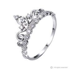 Dainty 925 Sterling Silver Crown Ring / van JewelsObsession op Etsy