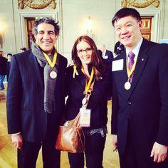 Dr. Farr Nezhat, Kate, Dr. Charles Wah (president-elect AMA)