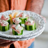 Proscuitto, Sour Cream & Feta Stuffed Cucumbers- Summer Fest