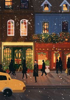 Image discovered by tomatoro. Find images and videos about beautiful, art and illustration on We Heart It - the app to get lost in what you love. Illustration Noel, Winter Illustration, Illustrations, Christmas Illustration Design, Buch Design, Christmas Mood, Xmas, Christmas Wallpaper, Aesthetic Art